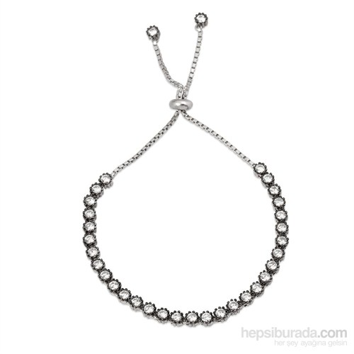 Bella Gloria Ayarlamalı Suyolu Gümüş Bileklik (GB00095)
