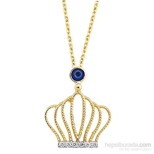 Melis Gold Altın Kral Tacı Kolye Kly00770