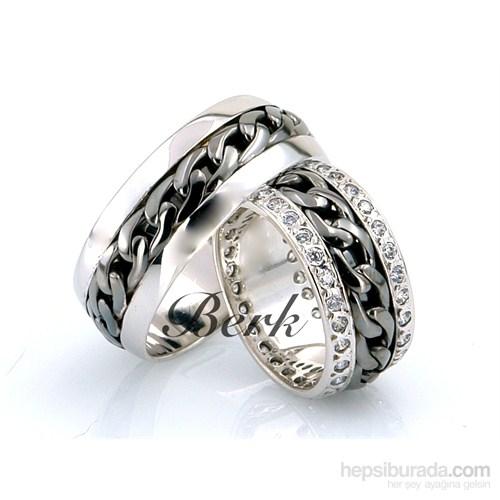 Berk Kuyumculuk Gümüş Alyans 5586 (Çift Fiyatı)