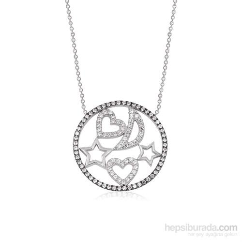 Altınsepeti Gümüş Yuvarlak Gökyüzü Aşkı Kolye G407kl