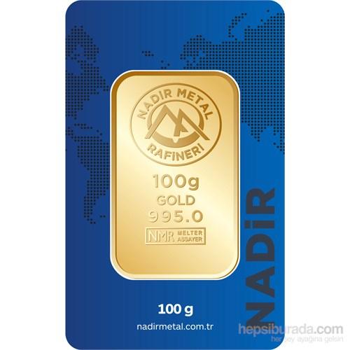 Nadir Gold 24 Ayar Külçe Gram Altın 100 Gr. - Aynı Gün Kargo