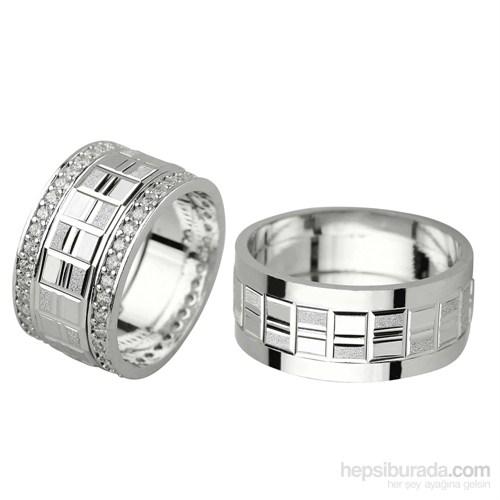 Ejoya Gümüş Çift Alyans P1033