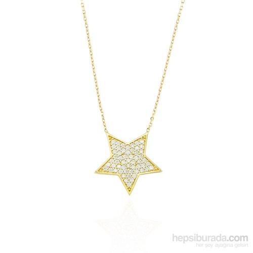 Glorria 14 Ayar Altın Yıldız Kolye