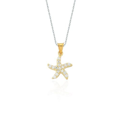 Glorria 14 Ayar Altın Deniz Yıldızı Kolye Ucu
