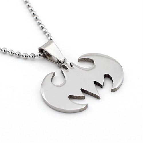 Solfera Batman Logosu Erkek Çelik Zincir Kolye K111