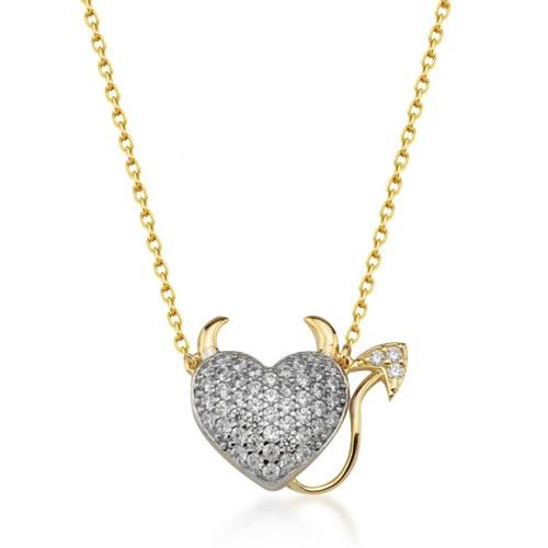 Goldstore 14 Ayar Altın Kalp Kolye Gp38908
