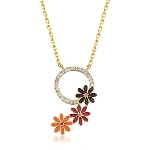 Goldstore 14 Ayar Altın Çiçek Kolye Gp39084