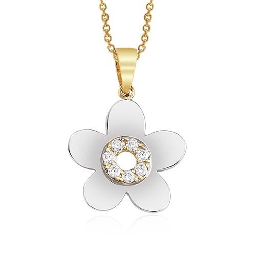 Altınsepeti Çiçek Altın Kolye As912kl