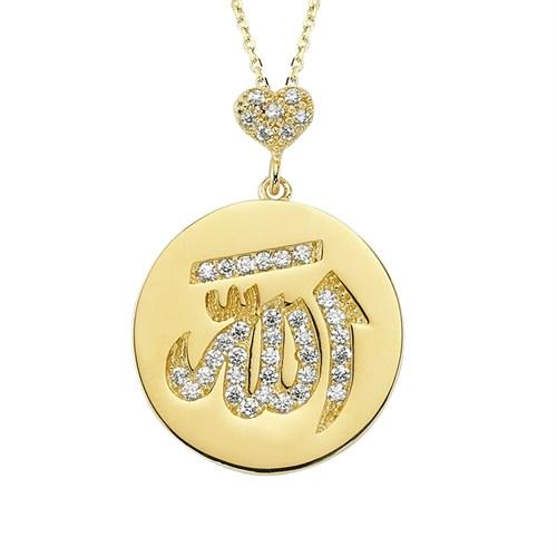 Altınsepeti Altın Allah Yazılı Plaka Kolye As994kl