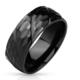 Chavin Parlak Siyah Çelik Erkek Çelik Yüzük dc51