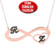 Chavin Gümüş-Rose Sonsuzluk 2'li harf isim-isimli kolye ce90