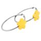 Chavin Çiçek Altın Kaplama Çelik Halka Küpe az79