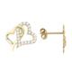 Melis Gold Gümüş Kalpli Küpe Gkp0003