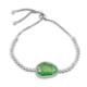 Else Silver Yeşil Kedi Gözü Asansörlü Bileklik