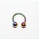 Cadının Dükkanı 316L Cerrahi Çelik Toplu Neon Yarım Ay Piercing (8 mm)