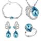 Modakedi Mavi Kristal Taşlı Özel Tasarım Bayan Takı Seti