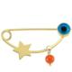 Goldstore 14 Ayar Altın Minik Yıldız Nazar Boncuklu Yaka İğnesi G33319
