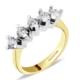 Goldstore Altın 5 Taş Yüzük GRW40522