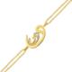 AltınSepeti Üçlü Altın Vav Harfi Taşlı Bileklik AS50BL