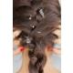 Morvizyon Gri Renk Kaplama Melek Ve Kuğu Figürlü Bayan Saç Yüzüğü