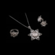 Akyüz Gümüş Yıldız İşlemeli Telkari Gümüş Set Stt011