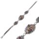 Akyüz Gümüş Yakut Taşlı Çiçek Motifli Telkari Gümüş Bileklik Bt037