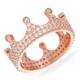 Bella Gloria Kraliçe Tacı Roz Gümüş Tamtur Yüzük (GA00078)