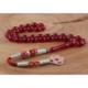 Yeshills Kırmızı Renk 1000 Ayar Gümüş Kazaz Püsküllü Sıkma Kehribar Tesbih