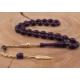 Tesbihevim Yaldız Kaplama Gümüş Püsküllü Sıkma Kehribar Tesbih Kht-501