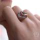 Nusret Takı 925 Ayar Rose Gümüş Ajur Desenli Lale Motifli Taşlı Yüzük 12