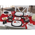 Keramika Set Kosem Kahvaltı 34 Parca Beyaz 004-Sıyah 650 Dıva A