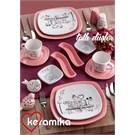 Keramika Set Köşem Kahvaltı 14 Parca Tatlı Düş A