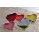 Keramika Kalp Çerezlik 6 Parça 9 cm