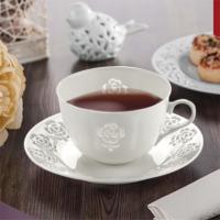 NEVA N1017 Dantel S Rosemary 6 Parça Beyaz Kahve Fincanı