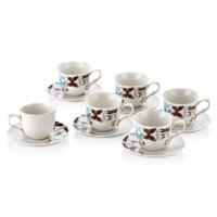 NEVA N641 Spring 6+6 Kahve Fincan Seti