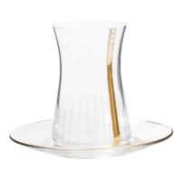 Laliano Three Stars Altın Çay Bardağı