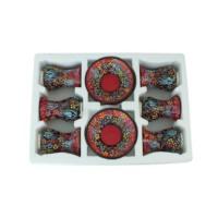 Myros Myros Kırmızı Çini 6'Lı Çay Seti
