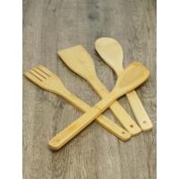 Kitchen Love 4 Lü Ahşap Bambu Kaşık