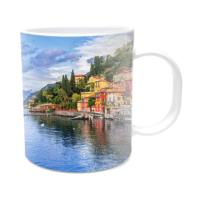 Fotografyabaskı Como Gölü İtalya Beyaz Kupa Bardak Baskı