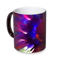 Fotografyabaskı Renk Ahengi Sihirli Siyah Kupa Bardak Baskı