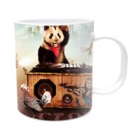 Fotografyabaskı Panda ve Müzik Beyaz Kupa Bardak Baskı