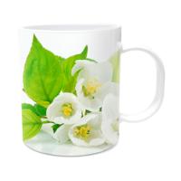 Fotografyabaskı Elma ve Çiçek Beyaz Kupa Bardak Baskı