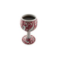 El Yapımı Seramik 15 cm Şarap Kadehi