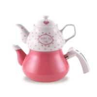 Schafer Tee Garten Emaye Çaydanlık Pembe
