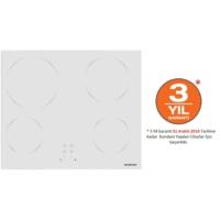 Silverline VC5355W01 4 Gözü Elektrikli Vitro Seramik Beyaz Cam Ankastre Ocak
