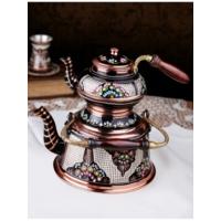 Kahveseti Özel El İşlemeli Bakır Çaydanlık