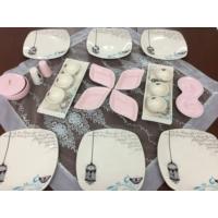 Keramika Retro Açık Pembe Kahvaltı Takımı