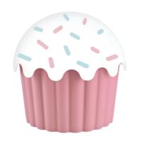 Cupe Cake Saklama Kabı - Pembe 550 Ml