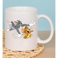 Fotografyabaski Tom and Jerry2 Beyaz Kupa Baskı