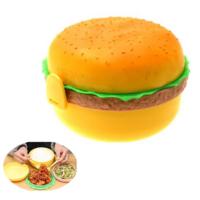Pratik Hamburger Tasarımlı Saklama ve Beslenme Kabı